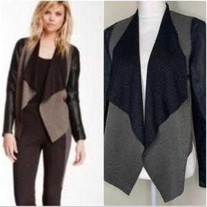 Stella & Jamie Rio Faux Leather Cardigan Size Med